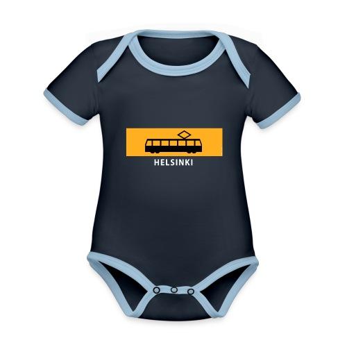 RATIKKA PYSÄKKI HELSINKI t-paidat ja tekstiilit - Vauvan kontrastivärinen, lyhythihainen luomu-body