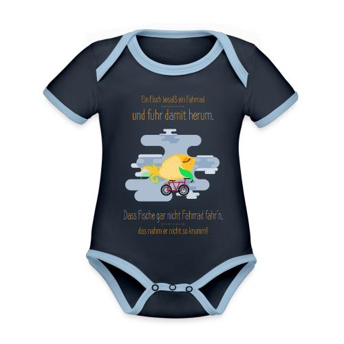 Der Fahrrad-Fisch - Baby Bio-Kurzarm-Kontrastbody