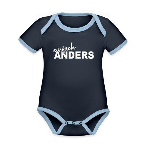 einfach ANDERS - Baby Bio-Kurzarm-Kontrastbody