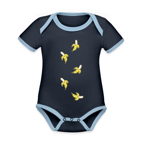 bananas - Organic Baby Contrasting Bodysuit