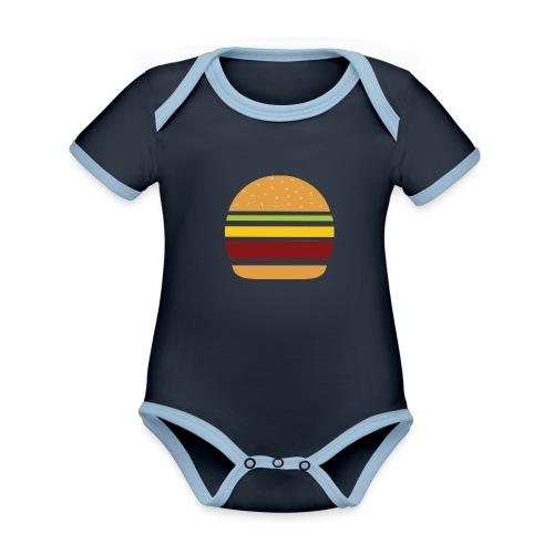 Logo Burger Panhamburger - Body Bébé bio contrasté manches courtes