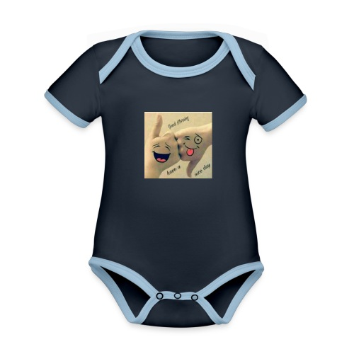 Friends 3 - Organic Baby Contrasting Bodysuit