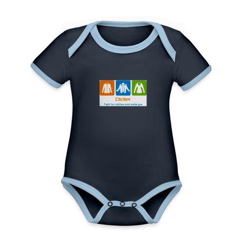 IMG 3596 - Kortærmet økologisk babybody i kontrastfarver