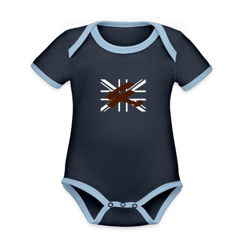 ukflagsmlWhite - Organic Baby Contrasting Bodysuit