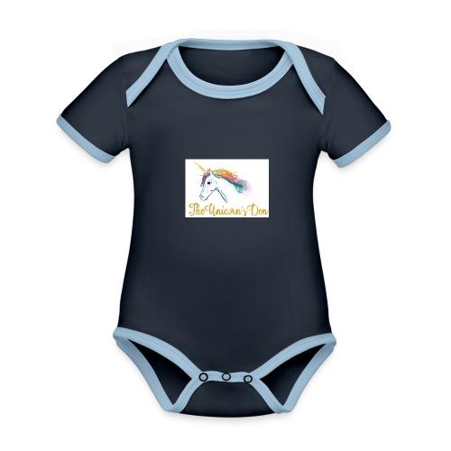 unicorn - Organic Baby Contrasting Bodysuit