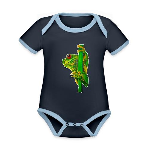 FROGGY - Baby Bio-Kurzarm-Kontrastbody