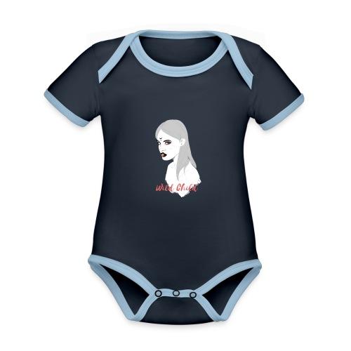 dark t shirt design female - Body contraste para bebé de tejido orgánico