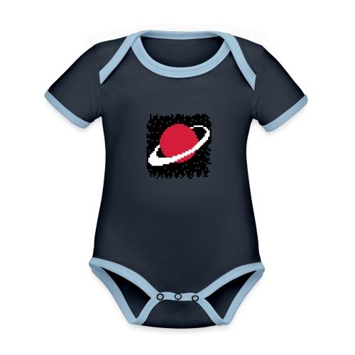 PixelArt Saturn - Organic Baby Contrasting Bodysuit