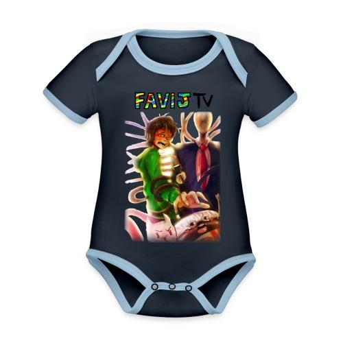 ShirtFinale png - Body da neonato a manica corta, ecologico e in contrasto cromatico