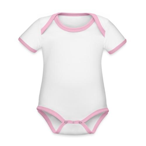 VISION [WHITE] - Baby contrasterend bio-rompertje met korte mouwen