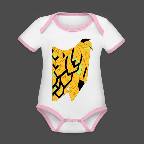 Owl Colour Redraw - Organic Baby Contrasting Bodysuit