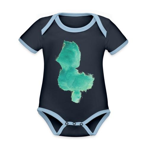 grünes Küken - Baby Bio-Kurzarm-Kontrastbody