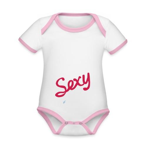 DIGITAL is the New Sexy - Body da neonato a manica corta, ecologico e in contrasto cromatico