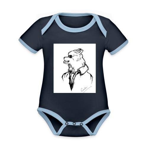 InkedThe Dog style bak LI - Body contraste para bebé de tejido orgánico