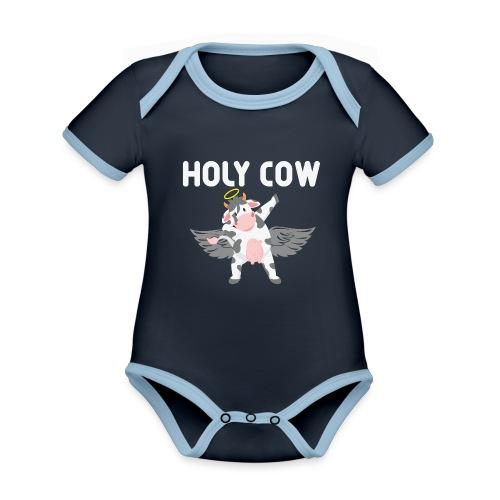 Holy Cow - Ekologisk kontrastfärgad kortärmad babybody