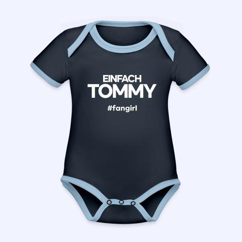 Einfach Tommy / #fangirl / White Font - Baby Bio-Kurzarm-Kontrastbody