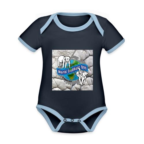 World Elephant Day 2020 - Baby Bio-Kurzarm-Kontrastbody