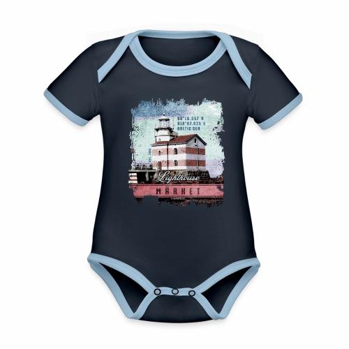 Märket majakkatuotteet, Finland Lighthouse, väri - Vauvan kontrastivärinen, lyhythihainen luomu-body