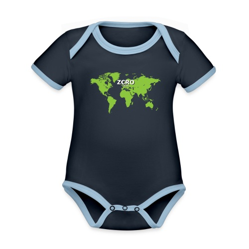 World Z€RO official - Organic Baby Contrasting Bodysuit