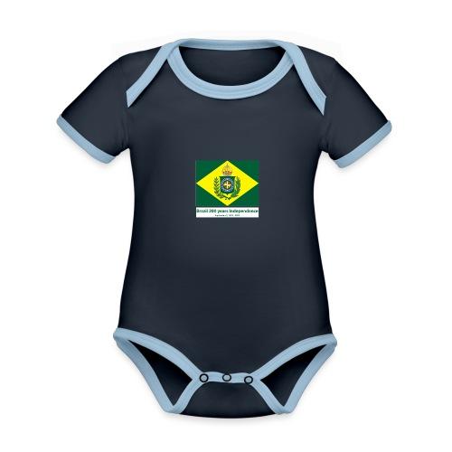 Brazil 200 years independence - Økologisk kortermet kontrast-babybody