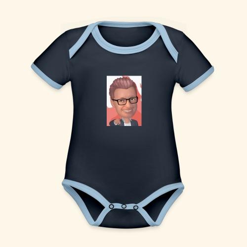 MM twitch shop - Kortærmet økologisk babybody i kontrastfarver