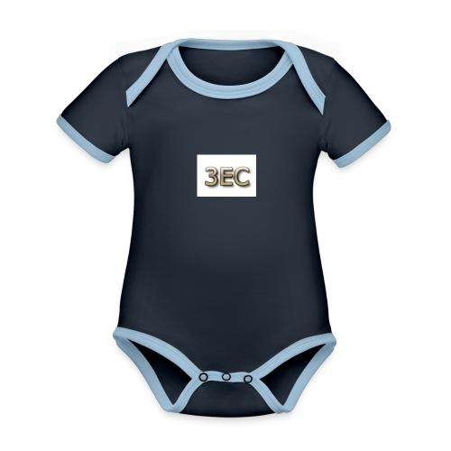3EC - Baby Bio-Kurzarm-Kontrastbody