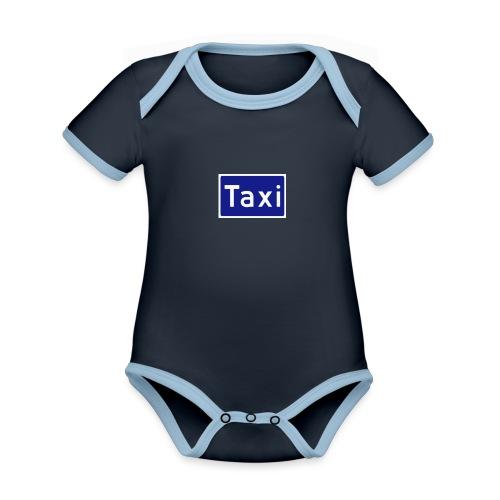 Taxi - Økologisk kortermet kontrast-babybody