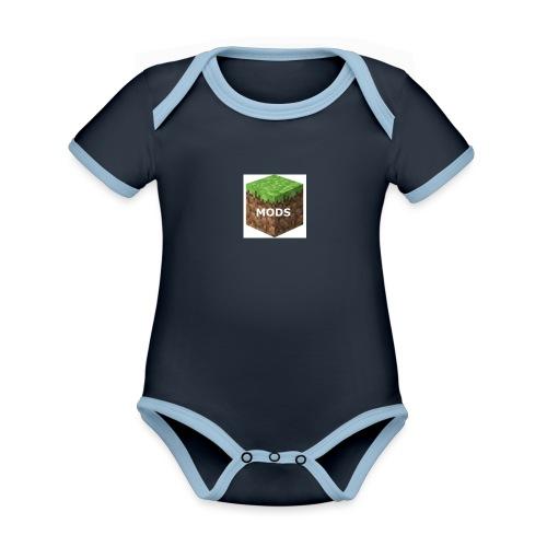 youtubelogo - Organic Baby Contrasting Bodysuit
