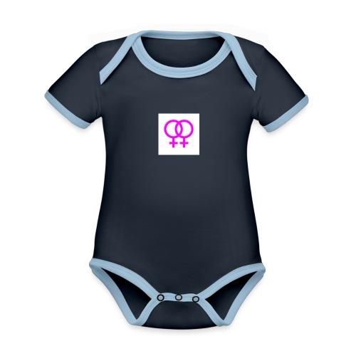 lesbian logo - Body Bébé bio contrasté manches courtes