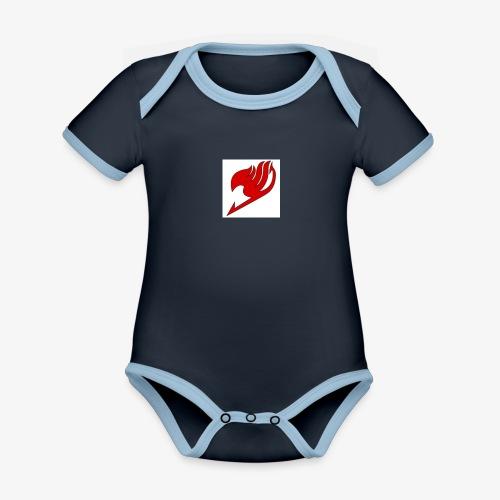 logo fairy tail - Body Bébé bio contrasté manches courtes