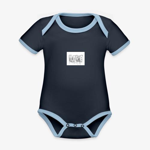 Love - Organic Baby Contrasting Bodysuit