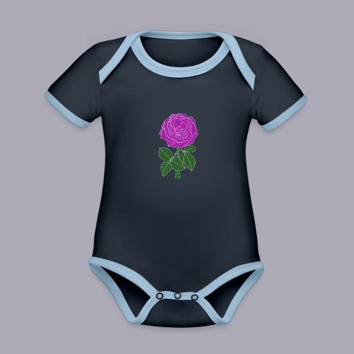 Landryn Design - Pink rose - Organic Baby Contrasting Bodysuit