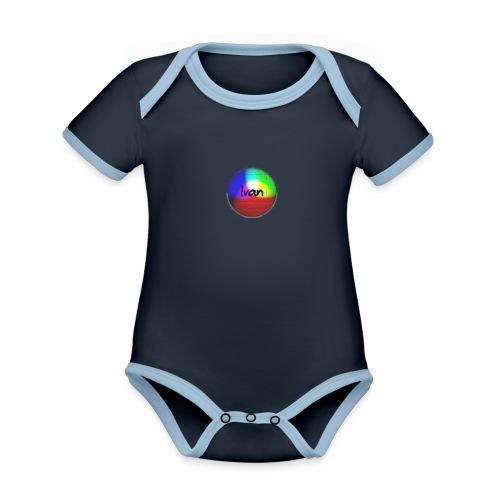 Ivan plays - Organic Baby Contrasting Bodysuit