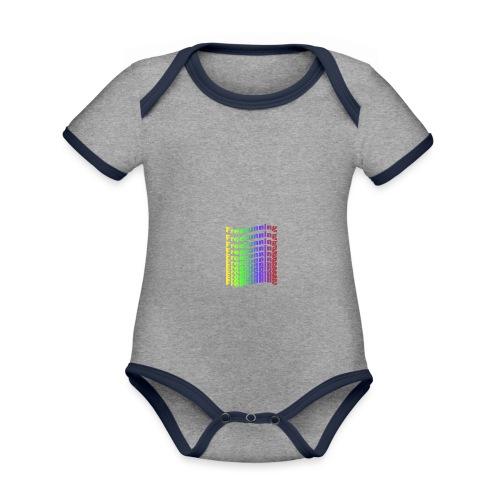 Freerunning Rainbow - Kortærmet økologisk babybody i kontrastfarver