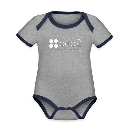 Logo peb2 weiss - Baby Bio-Kurzarm-Kontrastbody