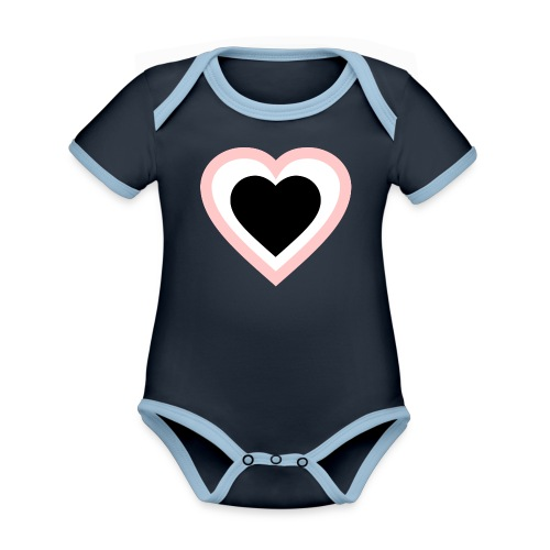Heartbeat Romantic Heart - Baby Bio-Kurzarm-Kontrastbody