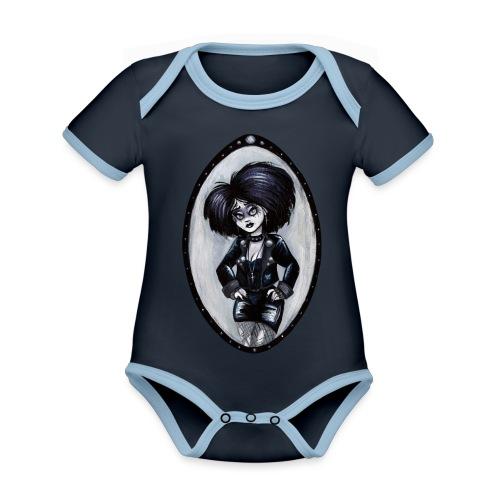 Trad Goth Art by E. R. Whittingham - Organic Baby Contrasting Bodysuit