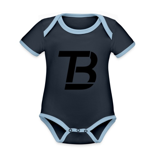 brtblack - Organic Baby Contrasting Bodysuit