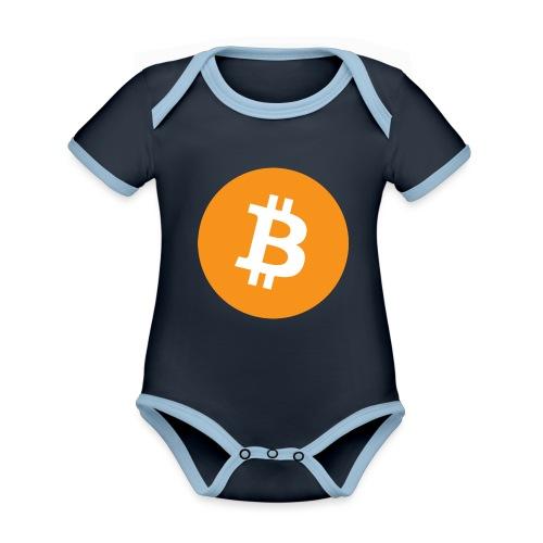Bitcoin - Organic Baby Contrasting Bodysuit