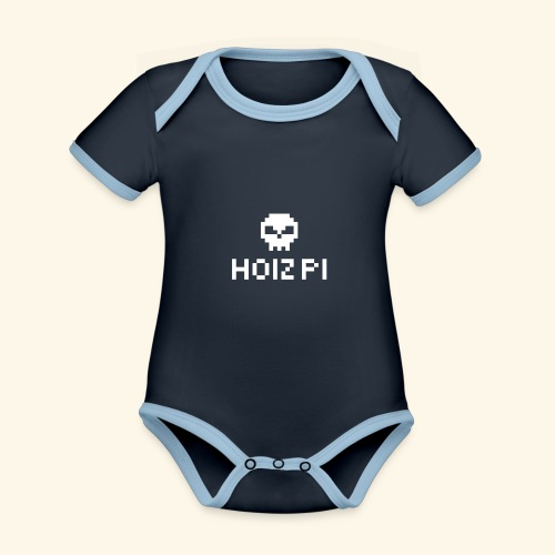 HoizPi - Baby Bio-Kurzarm-Kontrastbody