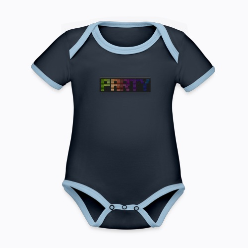 party colors - Organic Baby Contrasting Bodysuit