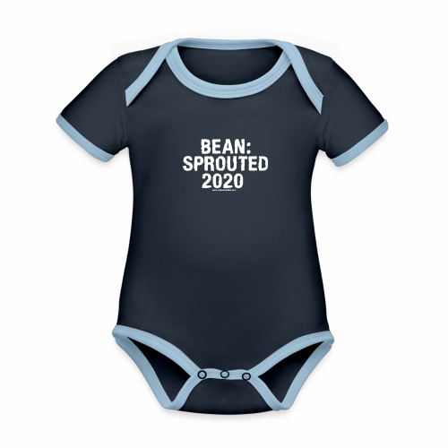 Bean Sprouted 2020 White - Organic Baby Contrasting Bodysuit