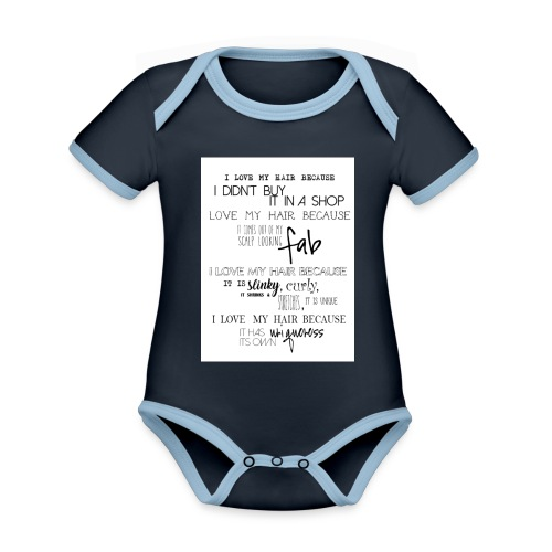 I LOVE MY HAIR - Organic Baby Contrasting Bodysuit