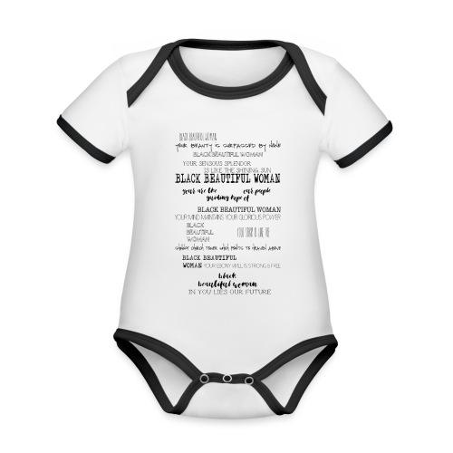 Beautiful Black Woman - Organic Baby Contrasting Bodysuit