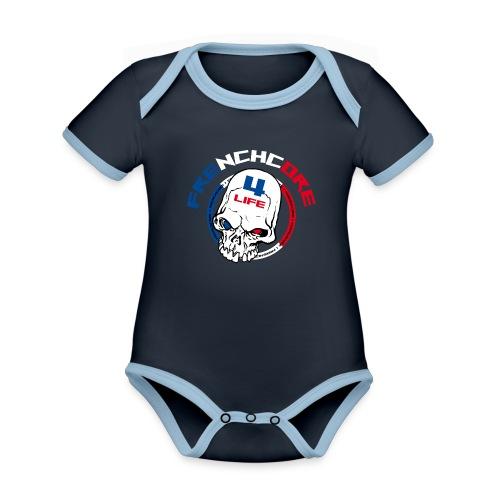Frenchwear 07 - Baby Bio-Kurzarm-Kontrastbody