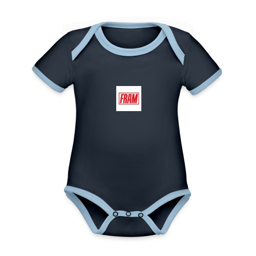 LogoSample ByTailorBrands - Baby contrasterend bio-rompertje met korte mouwen