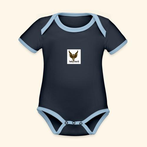 feeniks logo - Vauvan kontrastivärinen, lyhythihainen luomu-body