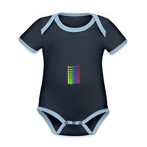 Parkour rainbow - Kortærmet økologisk babybody i kontrastfarver