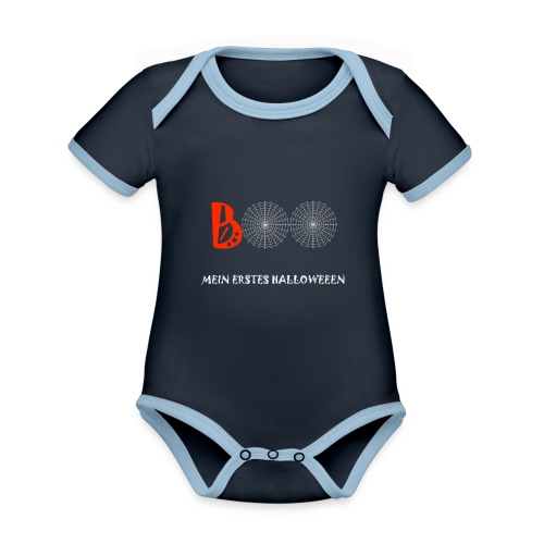 erstes halloween - Baby Bio-Kurzarm-Kontrastbody