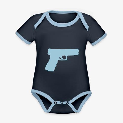 Pistol 88 C2 - Glock 17 Gen.3 - Ekologisk kontrastfärgad kortärmad babybody